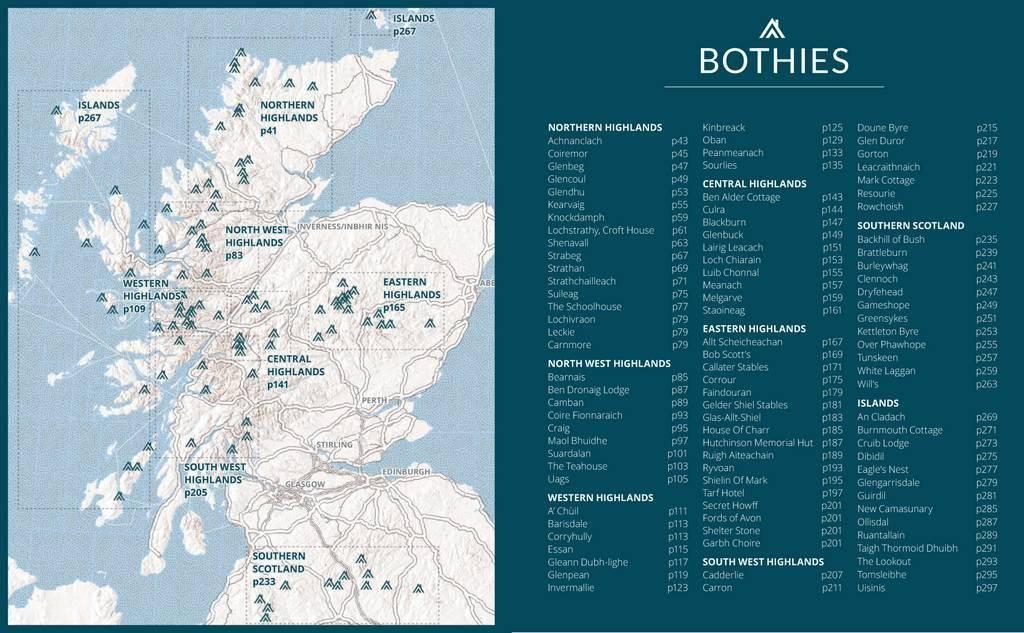 Scottish Bothy Map Scottish Bothy Bible, The Scottish Bothy Map
